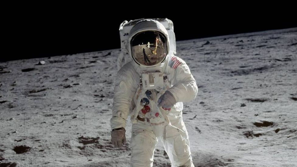 Aldrin's sights now go much farther than the lunar surface he walked on (Credit: Nasa)