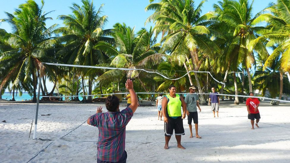 Every day, the locals meet to play volleyball at 4pm (Credit: Rob Roberts)