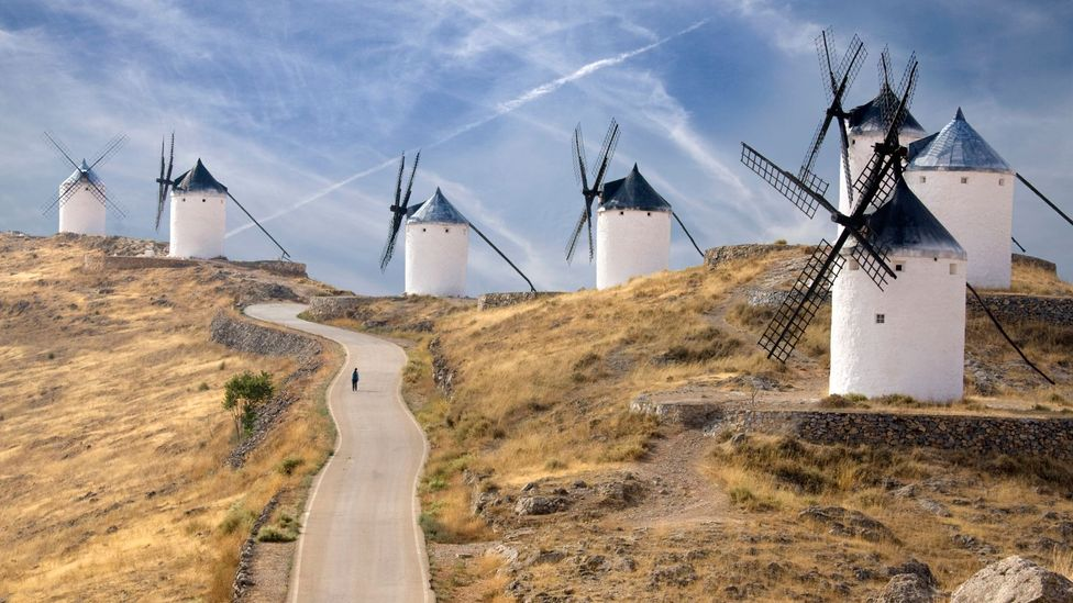 The windmills in La Mancha were immortalised in Don Quixote (Credit: Jon Bower at Apexphotos/Getty Images)