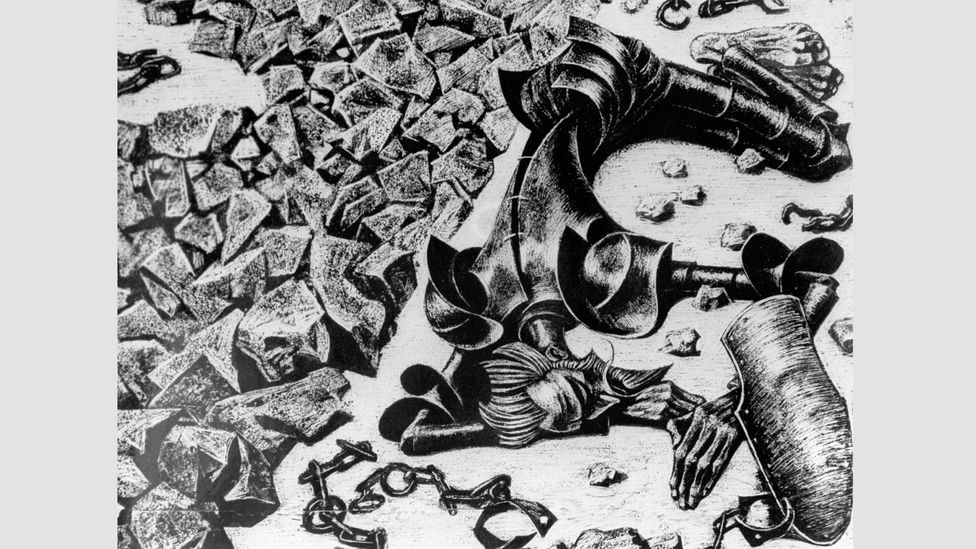 Cervantes's experience led to an interest in the workings of madness (Illustrated by Savva Brodsky; Credit: Sputnik/Alamy Stock Photo)