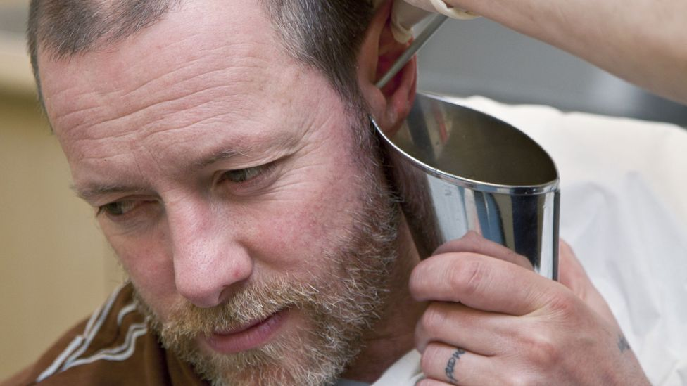 Syringing with liquid can remove excess wax without risking damaging the eardrum (Credit: Science Photo Library)