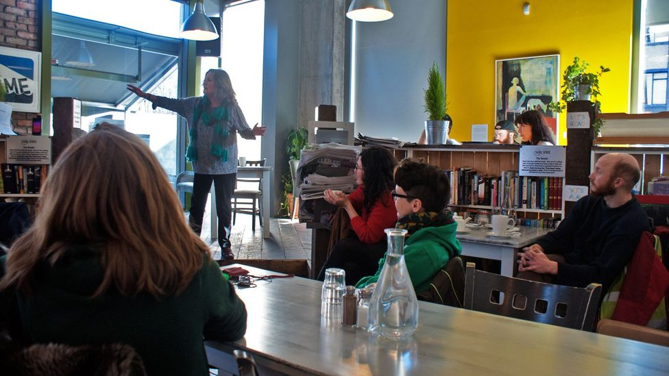 Third Space café is in Dublin's increasingly smart Smithfield district (Credit:Rory Boland)