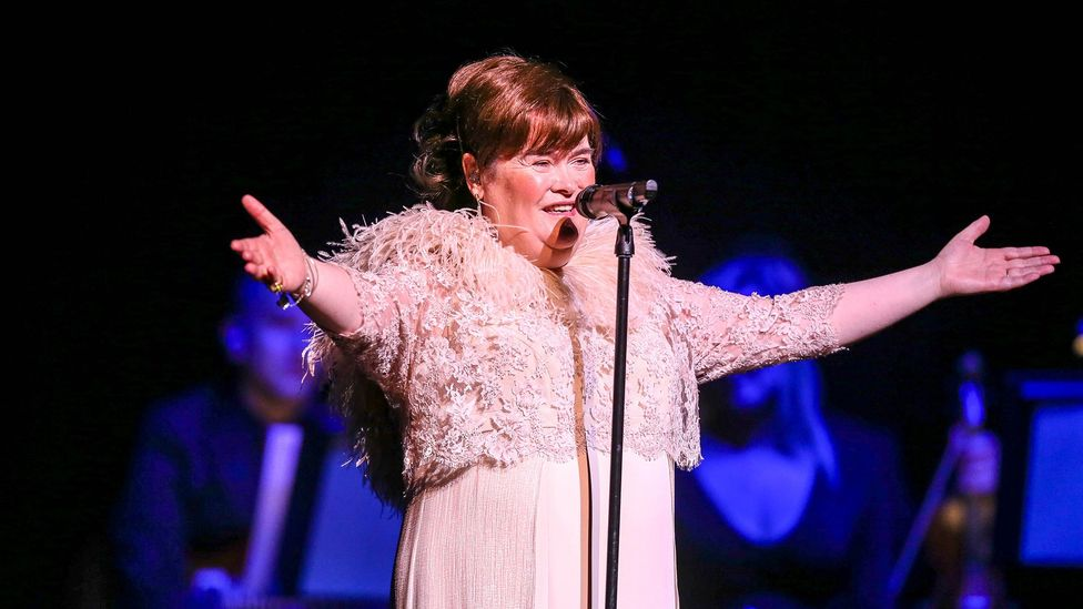 Like Florence, Susan Boyle faced giggles from the audience – but these were soon silenced when she opened her mouth to sing (Credit: Rex Features)