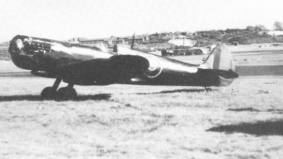 Martindale was lucky to survive when his high-speed dive ripped the propeller blades off his Spitfire (Credit: Crown Copyright)