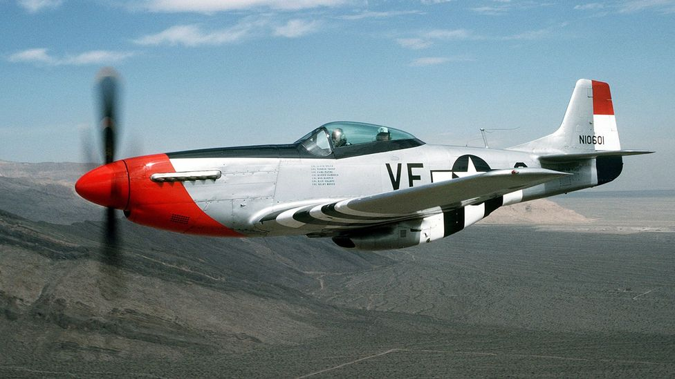 The American P-51 Mustang was also used for high-speed flights that paved the way to breaking the sound barrier (Credit: Getty Images)