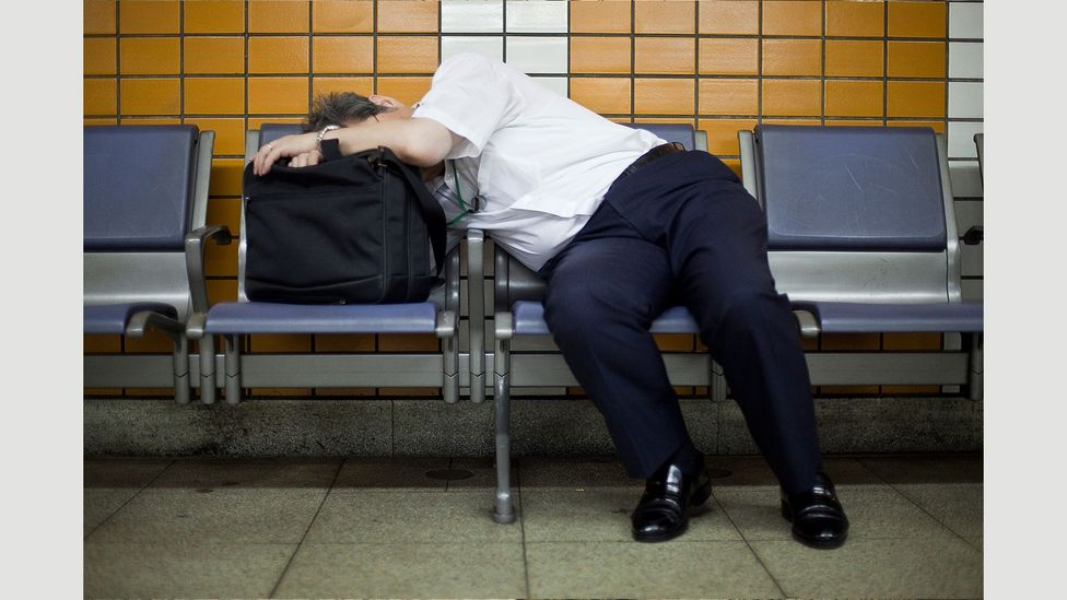 The habit of 'inemuri' is considered quite different from sleeping at night, or even taking a power nap (Credit: Adrian Storey/Uchujin)