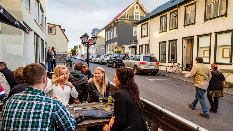 The locals enjoy Reykjavik's bars and restaurants (Credit: Yadid Levy/Alamy)