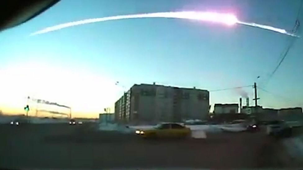 The 2013 Chelyabinsk Meteor only avoided causing serious damage because it broke up high in the atmosphere (Credit: Science Photo Library)
