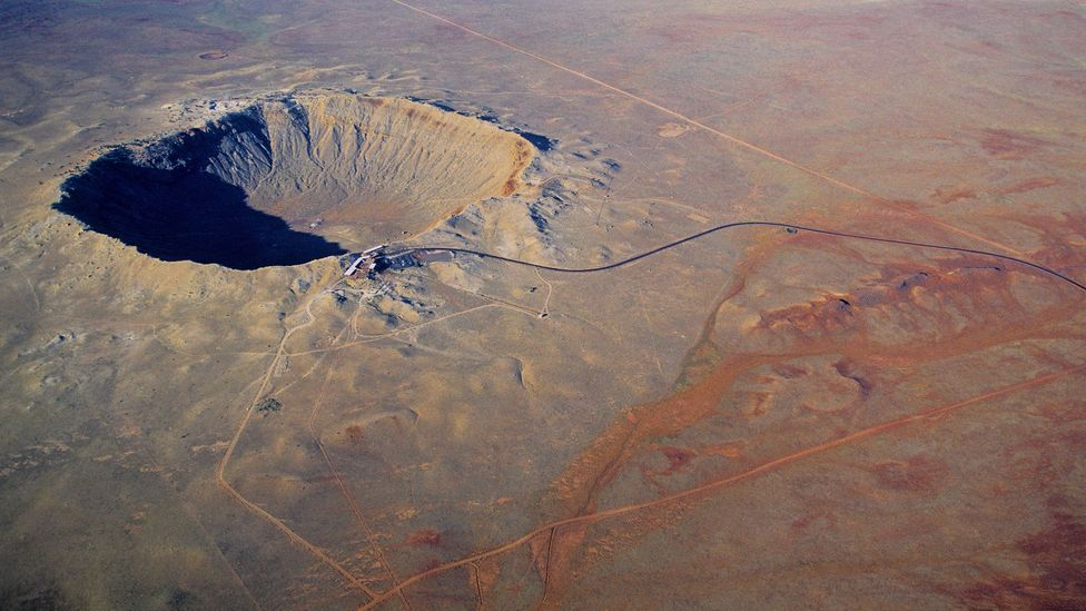 An asteroid only around 250 metres across was enough to create Meteor Crater in Arizona (Credit: Science Photo Library)