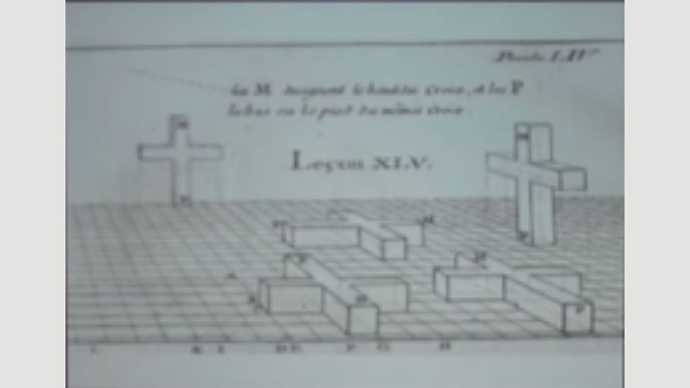 Thomas Banchoff recognised the shape of an unfolded four-dimensional cube in this sketch by French astronomer Edme-Sebastien Jeaurat (Credit: YouTube)