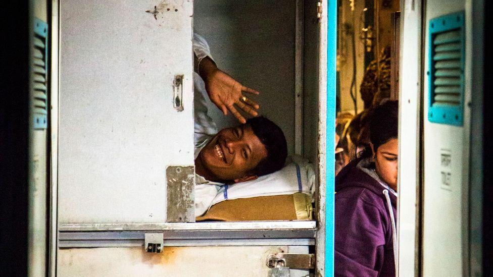 The staff sleeping quarters aboard the Vivek Express (Credit: Ed Hanley)