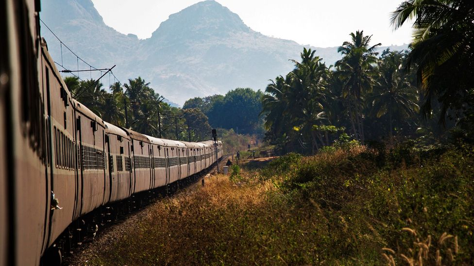 The 85-hour train passed through beautiful Indian landscapes (Credit: Ed Hanley)