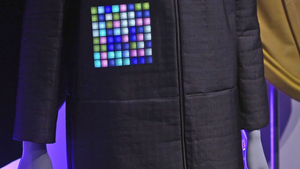 A jacket with built-in display by Screenstoff. (Credit: Getty Images)