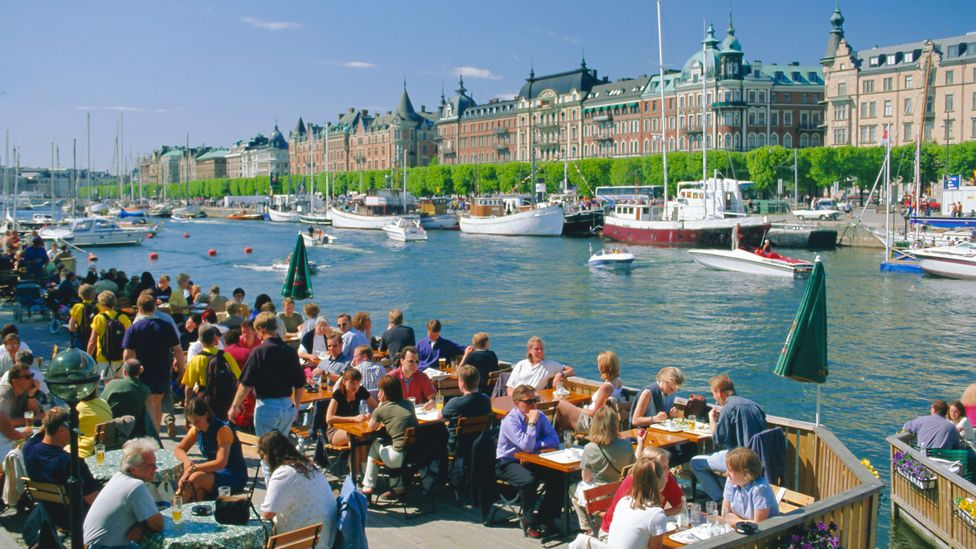 Summer heats up in Sweden's capital drawing in the crowds (Credit: Alamy)