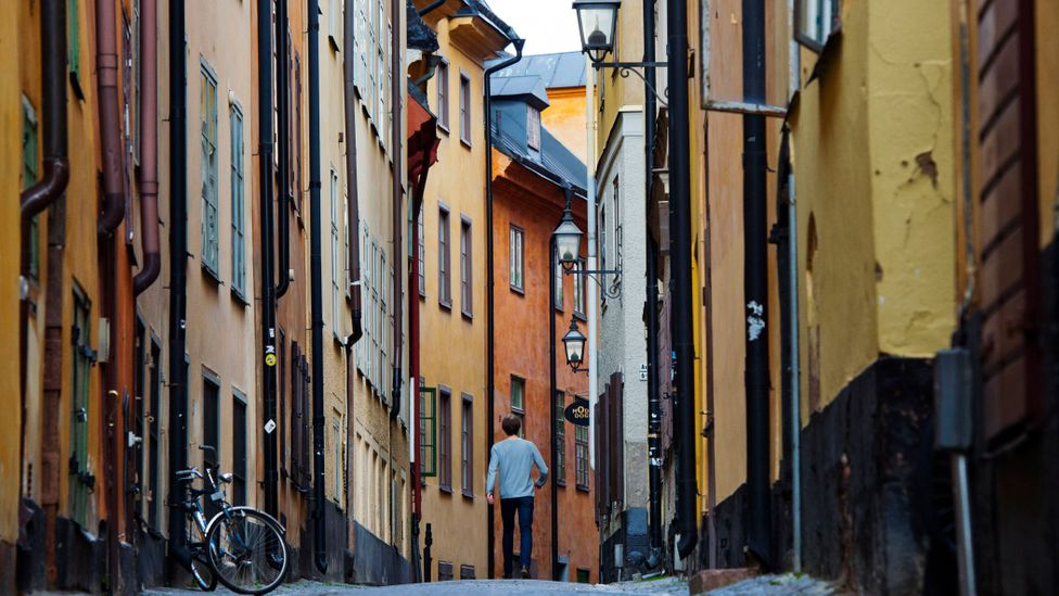 Tightly packed period housing in Stockholm old town (Credit:Getty Images)