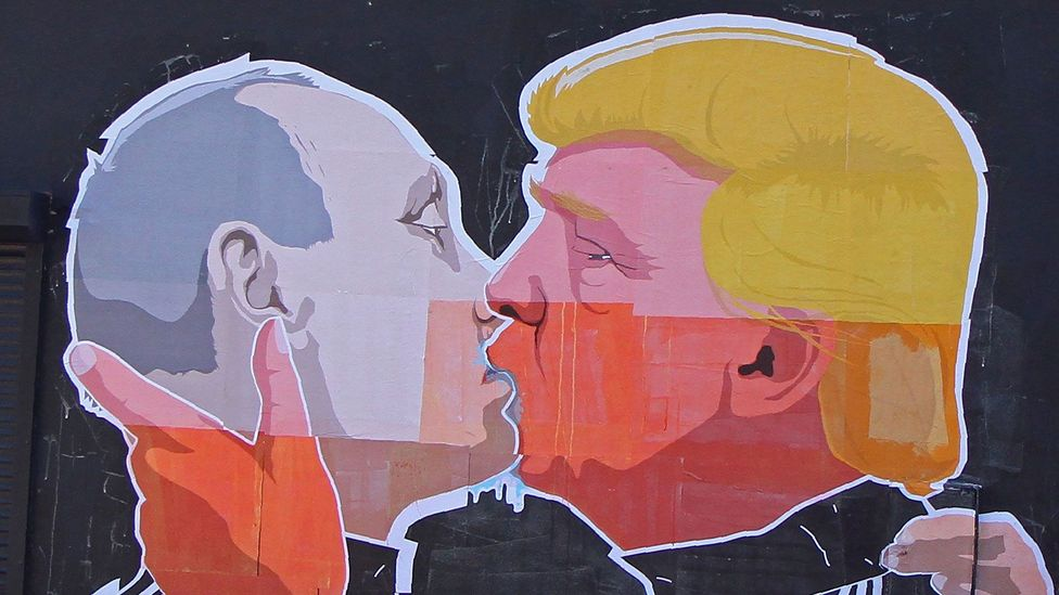 A mural by Mindaugas Bonanu (Credit: Petras Malukas/AFP/Getty Images)