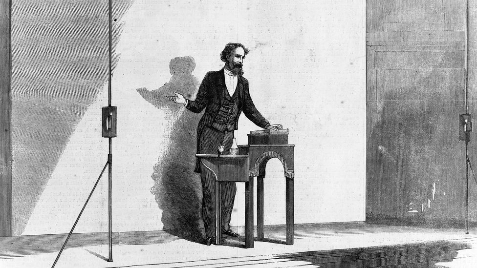 Charles Dickens at a reading (Credit: GL Archive/Alamy)