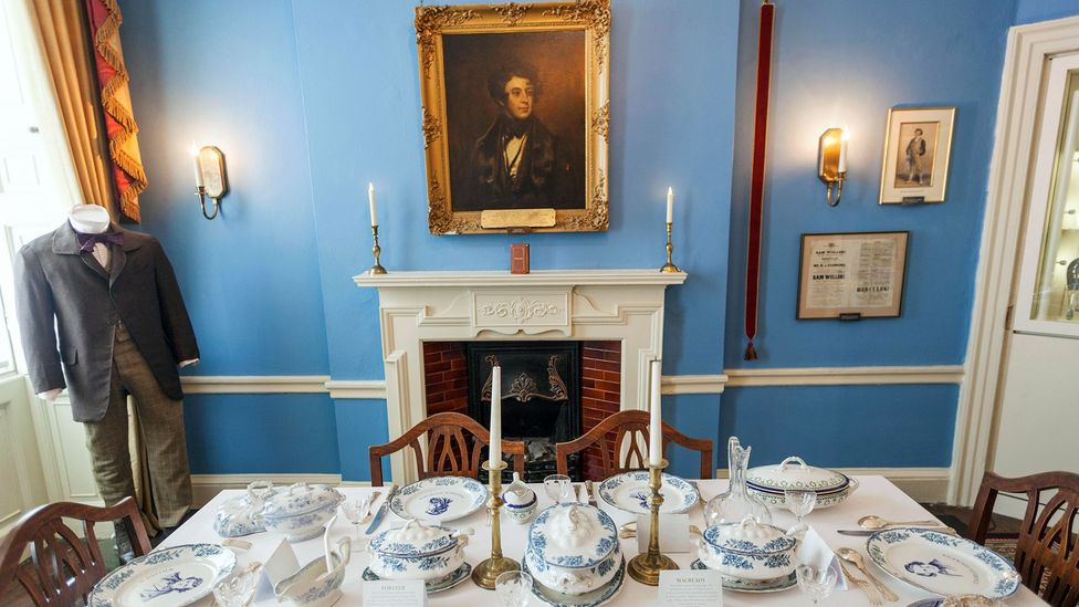 The dining room in the Dickens's house in London, now the Charles Dickens Museum (Credit: Steve Vidler/Alamy)