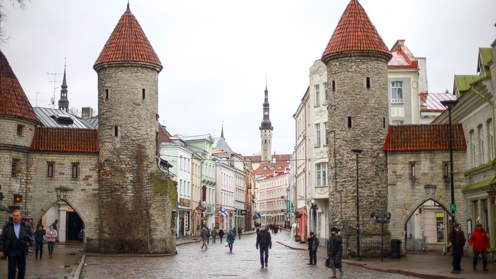 In places like Tallinn, Estonia, that have become like a second home, he tries to maintain some form of continuity. (Credit: Getty Images)