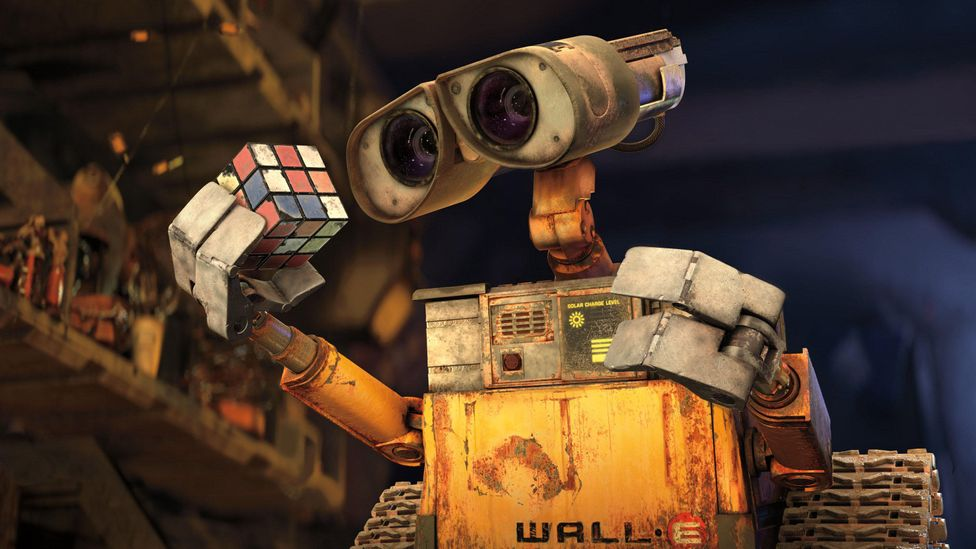 A smart human helper? Star of the film, small waste collecting robot  'WALL-E' from Walt Disney Studios Motion Pictures, Pixar Animation Studios.  (Credit: Alamy).
