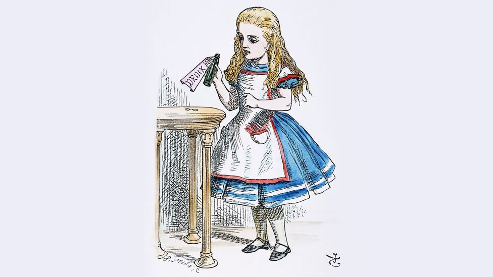 In 1871, Lewis Carroll published a sequel called Through the Looking Glass, which introduced the Jabberwocky and Tweedles Dum and Dee (Credit: Alamy)