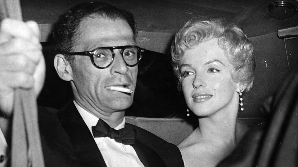 """Egghead weds hourglass"" read the famous headline in Variety, when the playwright Arthur Miller and Marilyn Monroe married in 1956 (Credit: Getty Images)"