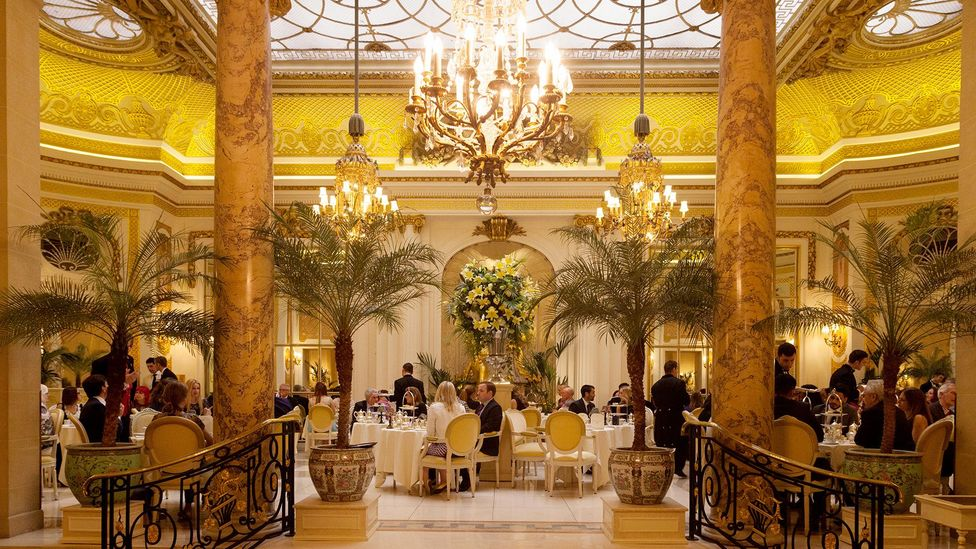 The humble cup of tea is celebrated in the poshest London hotels (Credit: Alamy)