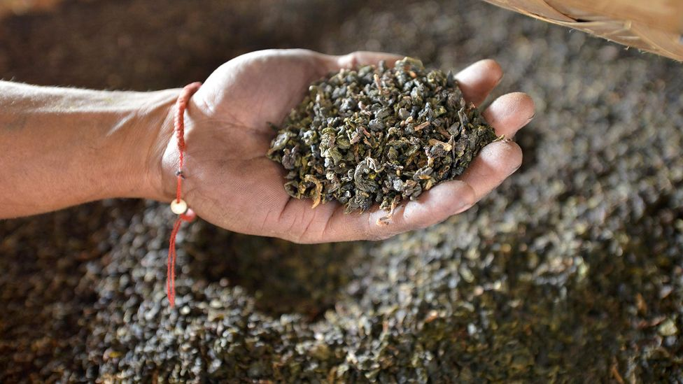 The leaves used to make tea are cooked to help release the complex mix of flavours (Credit: Alamy)