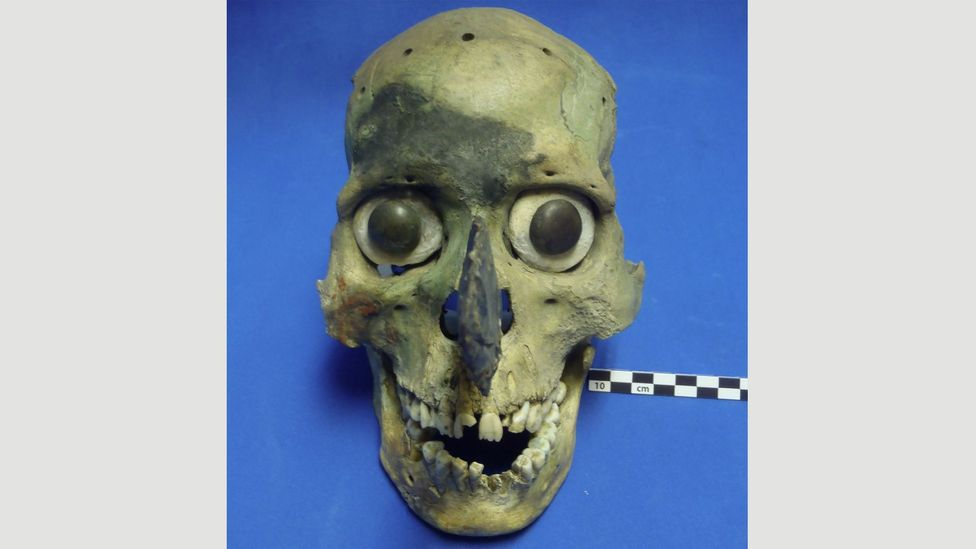 A team of researchers at the University of Montana believe they have solved the mystery of the eight morbid masks from the Templo Mayor in Mexico (Credit: Corey Ragsdale)