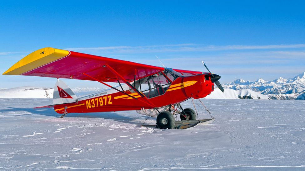 Claus can land his plane on the surface of a glacier (Credit: Joe Sohm/Getty)