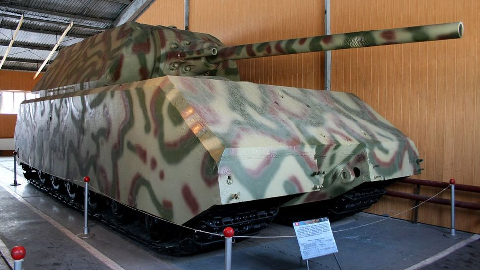 The German Maus tank had problems spreading its heavy load across its tracks (Credit: Superewer/Wikipedia)