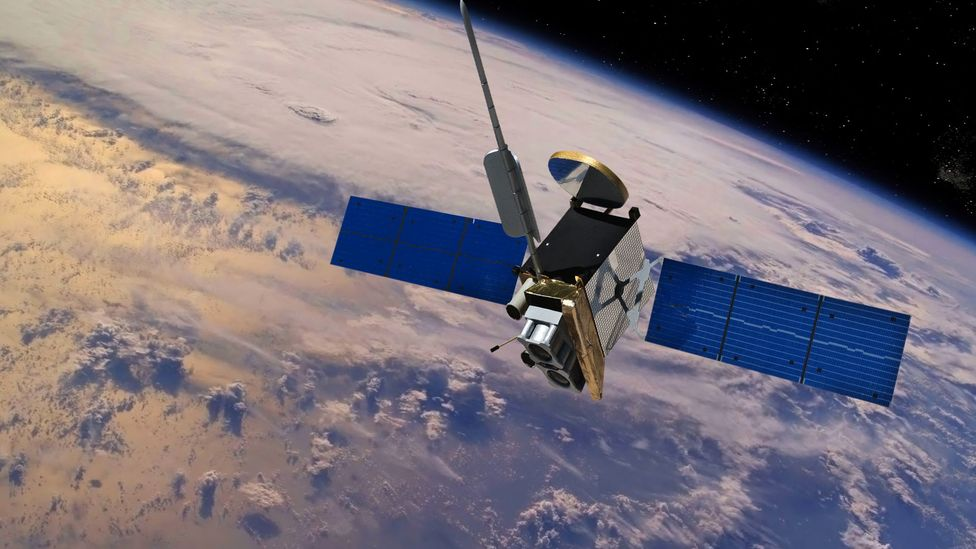 Most satellites break up into smaller pieces when they re-enter the atmosphere (Credit: Getty Images)