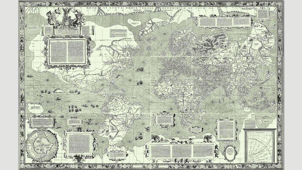 The 1569 Mercator map of the world (Credit: Wikipedia)