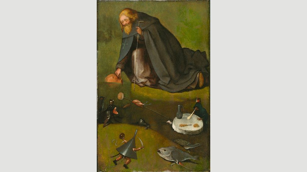 In The Temptation of St Anthony, Bosch's pocket-sized demons are sweet and amusing rather than scary (Credit: Hieronymus Bosch/The Temptation of St Anthony/Wikipedia)