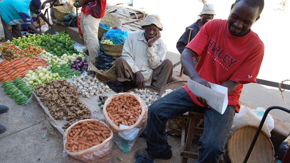 In most African markets you can buy earth intended for human consumption (Credit: Sera Young)
