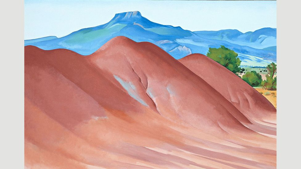 O'Keeffe never tired of painting the Pedernal mountain, which is where her ashes are scattered (Credit: 2016 Georgia O'Keeffe Museum/ DACS, London)