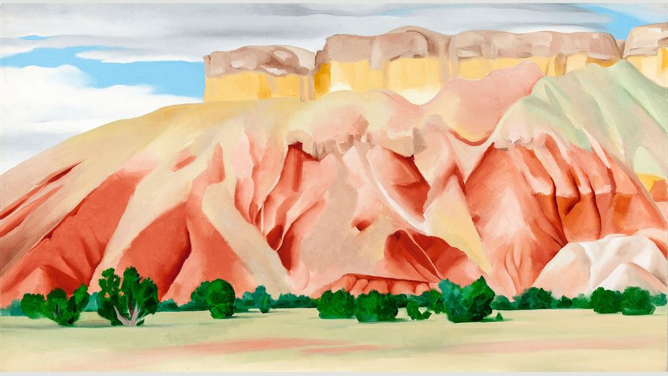 O'Keeffe painted several pictures at her other home, Ghost Ranch, including My Backyard (Credit: 2016 Georgia O'Keeffe Museum/DACS, London)