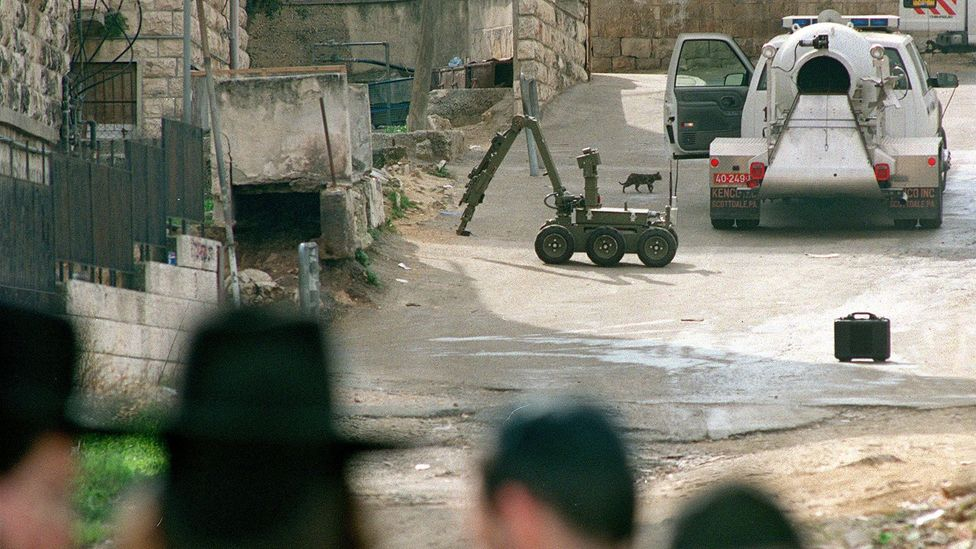 Bomb disposal robots can investigate suspect devices without endangering personnel (Credit: Getty Images)