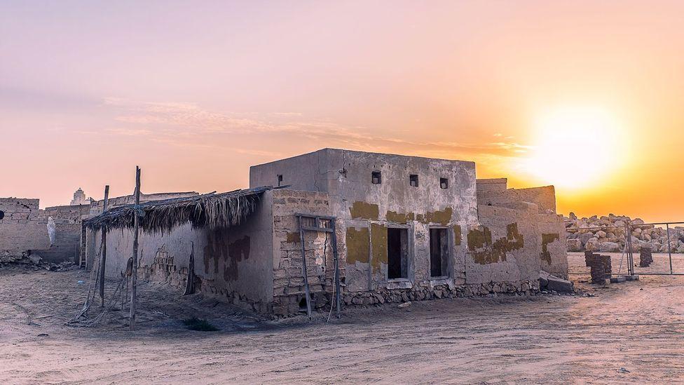 The lure of oil can even draw people away from towns whose populations were previously quite steady, such as this district of Al Jazirah Al Hamra in the United Arab Emirates.