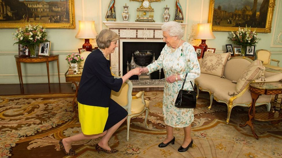 Queen Elizabeth II granted Theresa May a private audience on 13 July, inviting her to form a new government (Credit: Getty Images)
