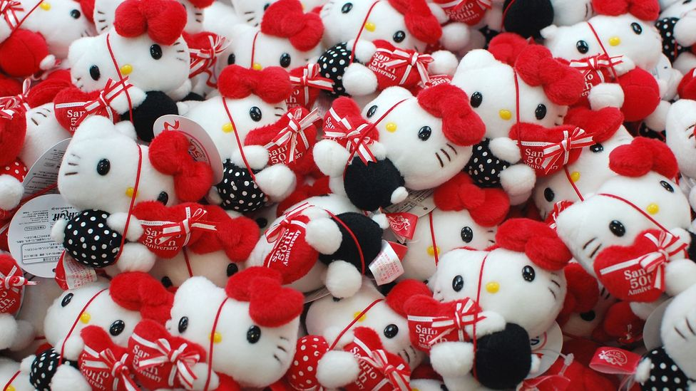 Hello Kitty's full name is Kitty White, and she has a family and lives in London (a fad for all things British hit Japan in the mid-1970s) (Credit: Alamy)
