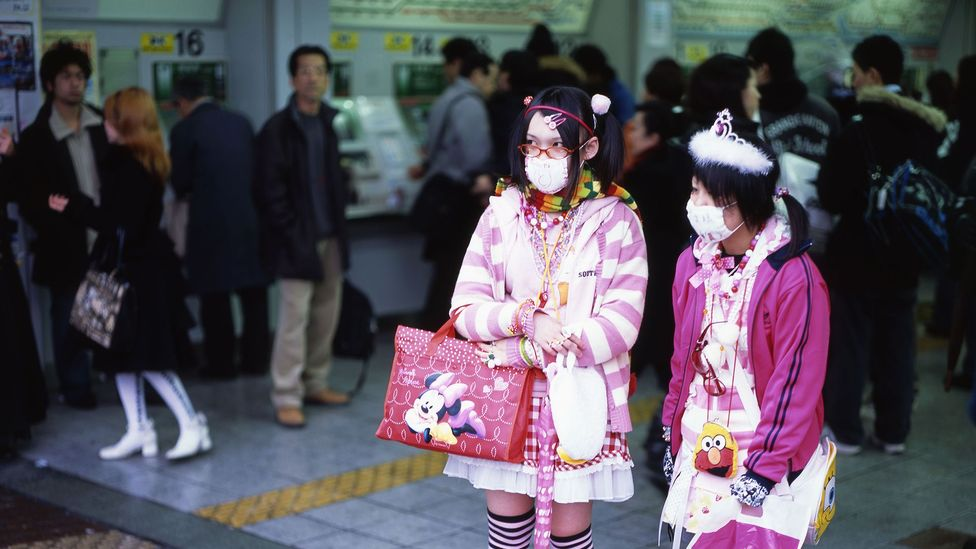 Anecdotally, some Japanese women say that they wear face-masks 'date masuku' – 'just for show' - in some cases because they don't consider themselves cute enough (Credit: Alamy)