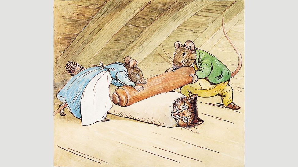 Courtly rat Samuel Whiskers sits around, takes snuff, and gives his wife incessant orders in a caricature of Victorian patriarchy (Credit: Penguin)
