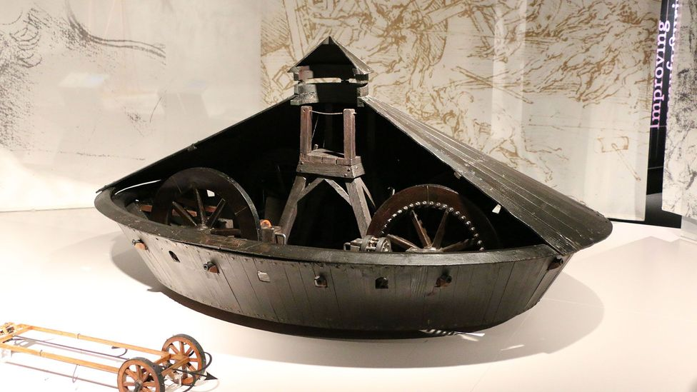 Though it looks impressive, the mechanical tank would only have been able to move at a slow jerk (Credit: Science Museum)
