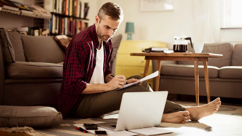 Can't help spending the weekend hunched over your laptop? Perhaps you need a change of mindset (Credit: iStock)