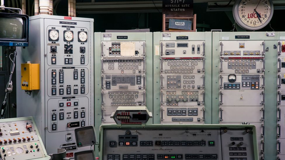 The control room has an array of analogue switches and dials (Credit: Chris Hinkle)