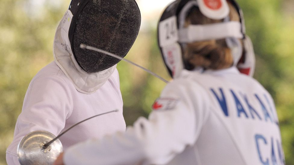Vakalis (right) squares off against Margaux Isaksen at the Pan American games in Mexico in 2011 (Credit: Getty Images)