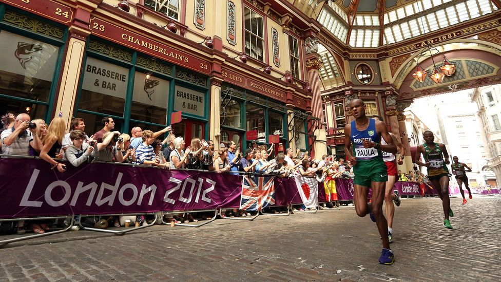 Did seeing athletes pounding the streets of London make more people want to take up exercise? (Credit: Getty Images)