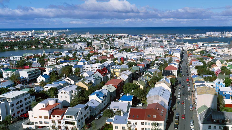View over Rekjavik from Hallgrimskikja church Iceland (Credit: Alamy)