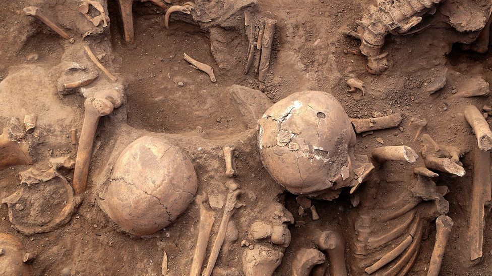 When the pavement was dug up in 2013 to enter the city's drainage system, at least 63 skeletons were found from pre-colonial times (Credit: Getty Images)